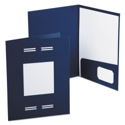 Oxford - 10072 - Imperial Series Laserview Business Portfolio, Premium Paper, Blue, 10/Pack