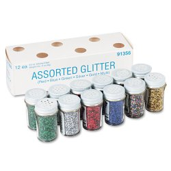 Pacon - 91356 - Spectra Glitter Sparkling Crystals - 0.75 oz - 12 / Pack - Assorted