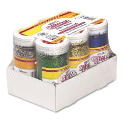 Pacon - 91370 - Spectra Glitter Sparkling Crystals - 4 oz - 6 / Set - Assorted