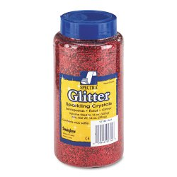 Pacon - 91740 - Spectra Glitter Sparkling Crystals - 16 oz - 1 Each - Red