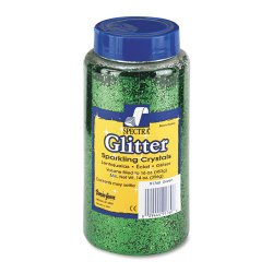Pacon - 91760 - Spectra Glitter Sparkling Crystals - 16 oz - 1 Each - Green
