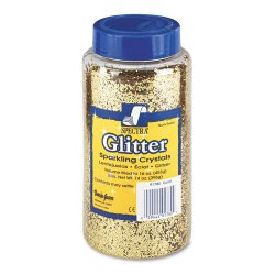 Pacon - 91780 - Spectra Glitter Sparkling Crystals - 16 oz - 1 Each - Gold