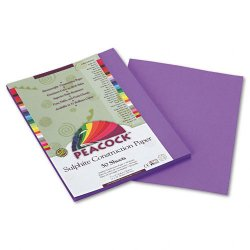 Pacon - P7209 - Peacock Sulphite Construction Paper, 76 lbs., 9 x 12, Violet, 50 Sheets/Pack