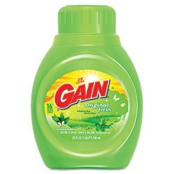 Procter & Gamble - 12783 - Gain Liquid Laundry Detergent - Liquid - 0.20 gal (25 fl oz) - Original Scent - 6 / Carton - Green