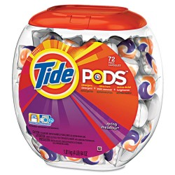Procter & Gamble - 50978 - Tide Pods Laundry Detergent - Spring Meadow Scent - 72 / Pack - Blue
