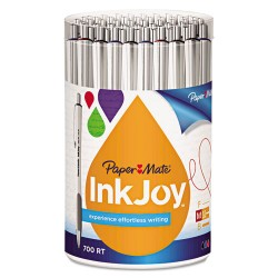 PaperMate - 1792817 - InkJoy 700 RT Retractable Ballpoint Pen, 1mm, Assorted, White Barrel, 36/Pack