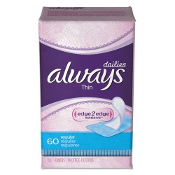 Procter & Gamble - 08282EA - Dailies Thin Liners, Regular, 60/Pack