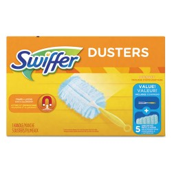 Procter & Gamble - 11804BX - Dusters Starter Kit, Dust Lock Fiber, 6 Handle, Blue/Yellow