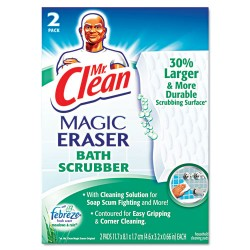 Procter & Gamble - PGC 84552CT - Magic Eraser Bathroom Scrubber, 4 1/2 x 3 1/5, 2/Box, 16 Boxes/Carton