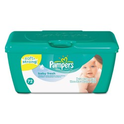 Procter & Gamble - 10037000282485 - Baby Fresh Wipes, White, Cotton, 72/Tub