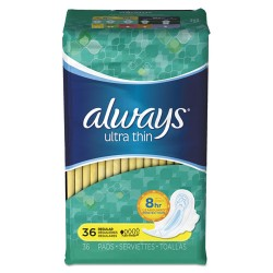 Procter & Gamble - 30656 - Ultra Thin Pads, Regular, 36/Pack, 6 Pack/Carton