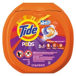 Procter & Gamble - PGC 50978 - Detergent Pods, Spring Meadow Scent, 72 Pods/Pack, 4 Packs/Carton
