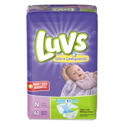 Procter & Gamble - 85921 - Diapers w/Leakguard, Newborn: 4 to 10 lbs, 40/Pack, 4 Pack/Carton