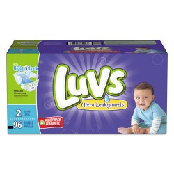Procter & Gamble - 85928 - Diapers w/Leakguard, Size 2: 12 to 18 lbs, 96/Carton