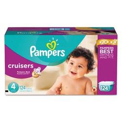 Procter & Gamble - 10037000862830 - Cruisers Diapers, Size 4: 22 - 37 lbs, 124/Carton