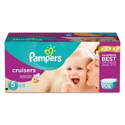Procter & Gamble - 10037000862847 - Cruisers Diapers, Size 5: 27 - 34 lbs, 108/Carton