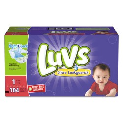 Procter & Gamble - 87945 - Diapers w/Leakguard, Size 1: 8 to 14 lbs, 104/Carton