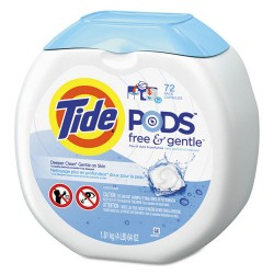 Procter & Gamble - 10037000898921 - Free & Gentle Laundry Detergent, Pods, 72/Pack, 4/Carton