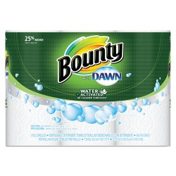 Tide - 92379EA - Paper Towels with Dawn, 2-Ply, 11 x 14, 49/Roll, 3/Pack