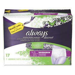 Procter & Gamble - 92736PK - Discreet Incontinence Underwear, Large, Maximum Absorbency, 17/Pack