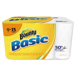 Tide - 92968 - Basic Paper Towels, 10.19 x 10.98, 1-Ply, 55/Roll, 12 Roll/Pack