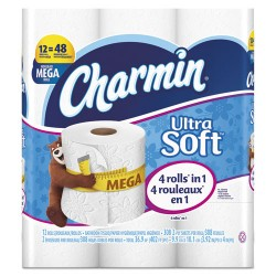 Procter & Gamble - 94050 - Ultra Soft Bathroom Tissue, 2-Ply, 4 x 3.92, 284 Sheets/Roll, 12 RL/PK, 4 PK/CT