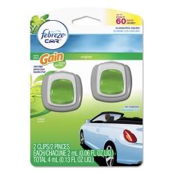Procter & Gamble - 94731 - CAR Air Freshener, Gain Original, 2 ml Clip, 2/Pack, 8 Pk/Carton