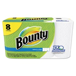 Procter & Gamble - 95005 - Bounty Select-a-Size Paper Towels - 2 Ply - 63 Sheets/Roll - White - For Kitchen - 8 / Pack