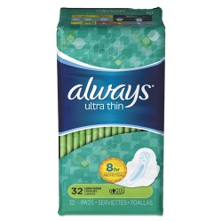 Procter & Gamble - 95251 - Ultra Thin Pads with Wings, Super Long, 32/Pack, 6/Carton
