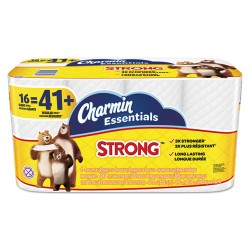 Procter & Gamble - 96895 - Essentials Strong Bathroom Tissue, 1-Ply, 4 x 3.92, 300/Roll, 16 Roll/Pack