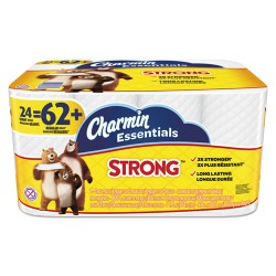 Procter & Gamble - 96897 - Essentials Strong Bathroom Tissue, 1-Ply, 4 x 3.92, 300/Roll, 24 Roll/Pack