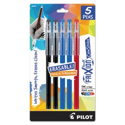 Pilot Pen - 072838324424 - FriXion ColorSticks Erasable Gel Ink Pen, Assorted Ink, Fine, 5/PK