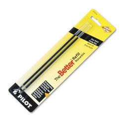 Pilot Pen - 77215 - Pilot BPS Easy Touch Ballpoint Pen Refill - 0.70 mm - Black - 2 / Pack