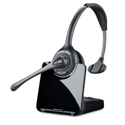Plantronics - 84691-01 - Plantronics CS510 Headset - Mono - Black, Silver - Wireless - DECT - 300 ft - Over-the-head - Monaural - Supra-aural - Noise Cancelling Microphone