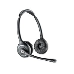 Plantronics - 84692-01 - Plantronics CS520 Wireless Headset System - Stereo - Black, Silver - Wireless - DECT - 300 ft - Over-the-head - Binaural - Semi-open - Noise Cancelling Microphone