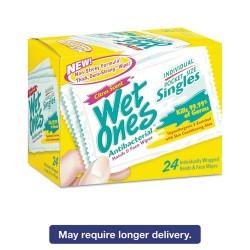 Wet Ones - 04730 - Antibacterial Moist Towelettes, Citrus, 3 3/5 x 7 1/2, White, 24/BX, 10 BX/CT