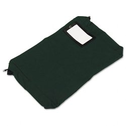 PM Company - 04647 - PM SecurIT Reusable Expanding Transit Sack - 18 Width x 14 Length - 4 Gusset - Dark Green - 1Each - Mailing