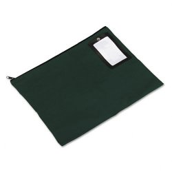 PM Company - 04649 - PM SecurIT Reusable Flat Transit Bags - 18 Width x 14 Length - Dark Green - 1Each - Mailing