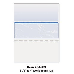 Paris Business Products - 04509 - DocuGard Laser, Inkjet Print Check Paper - Letter - 8 1/2 x 11 - 24 lb Basis Weight - Smooth - 500 / Ream - Marble Blue
