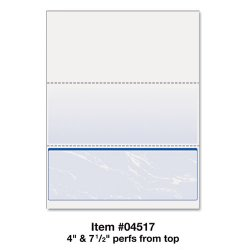 Paris Business Products - 04517 - DocuGard Laser, Inkjet Print Check Paper - Letter - 8 1/2 x 11 - 24 lb Basis Weight - Smooth - 500 / Ream - Marble Blue