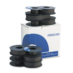 Printronix - 107675-007 - Printronix Ribbon - Dot Matrix - 50 Million Characters - Black - 6 / Pack