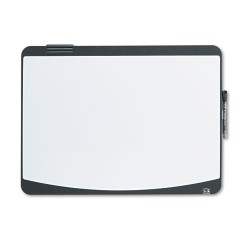 Acco Brands - 06355BK - Tack & Write Board, 23 1/2 x 17 1/2, Black/White Surface, Black Frame