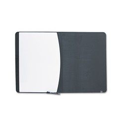 Acco Brands - 06545BK - Tack & Write Board, 35 x 23 1/2, Black/White Surface, Black Frame