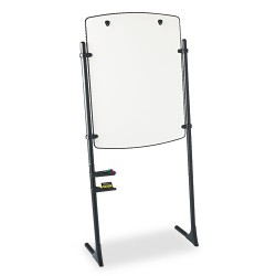 Acco Brands - 120TE - Total Erase Presentation Dry Erase Easel, 31 x 41, White, Black Steel Frame