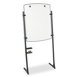 Acco Brands - 120TE - Total Erase Presentation Dry Erase Easel, 31 x 41, White, Black Steel Frame