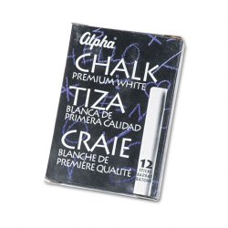 Quartet (Acco) - 314005 - Quartet Alpha White Chalk (Pack of 12)
