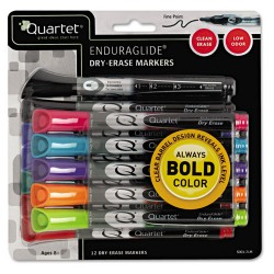 Acco Brands - 5001-20M - Quartet EnduraGlide Dry-Erase Markers - Chisel Marker Point Style - Assorted Ink - 12 / Pack