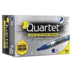 Acco Brands - 5001-3M - Quartet EnduraGlide Dry-Erase Markers - Chisel Tip, Blue, 12 Pack