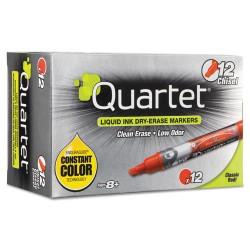 Acco Brands - 5001-4M - Quartet EnduraGlide Dry-Erase Markers - Chisel Tip, Red, 12 Pack