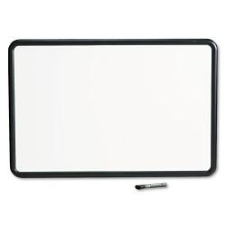 Acco Brands - 7553 - Contour Dry-Erase Board, Melamine, 36 x 24, White Surface, Black Frame
